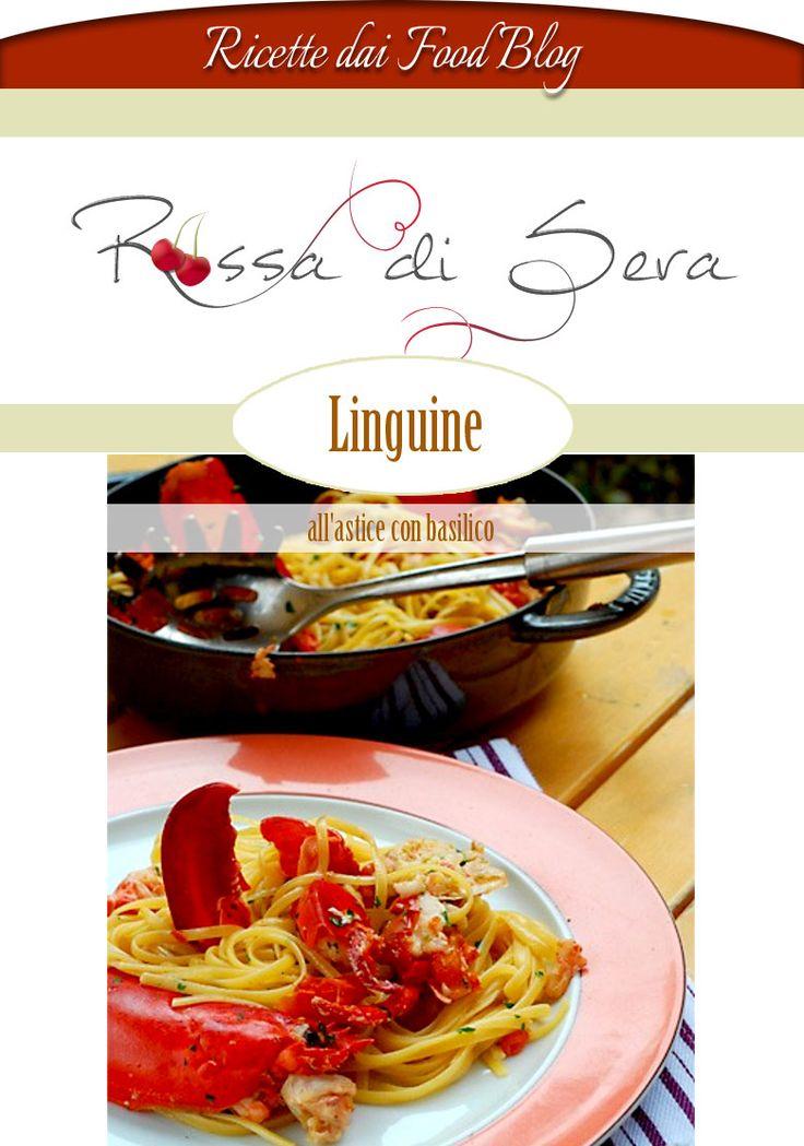 Linguine all'astice con basilico
