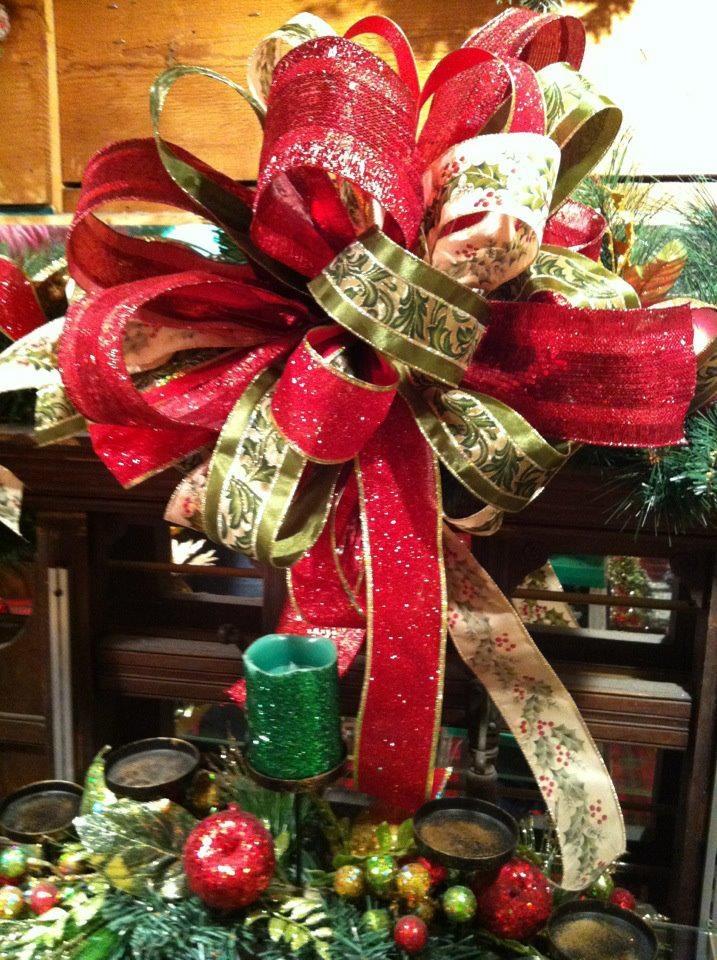 Make A Ribbon Christmas Tree Topper