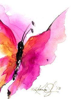 Butterfly Dreams - Watercolor by Kathy Morton Stanion