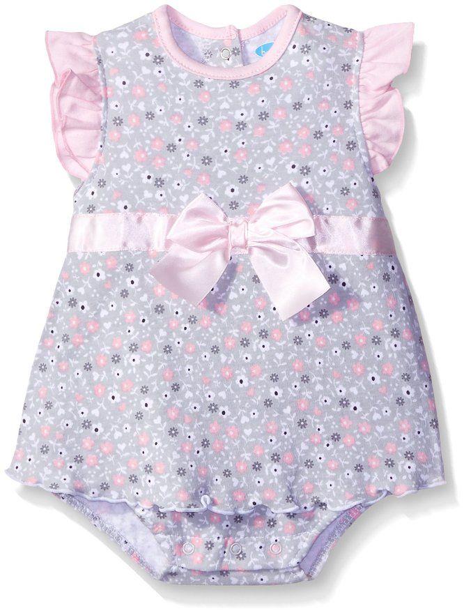 Amazon.com: BON BEBE Baby Girls' Flutter Sleeve Sundress with Built-In Diaper Cover: Clothing