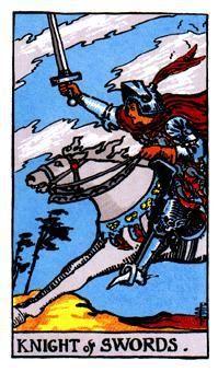 daily tarot reading, knight of swords