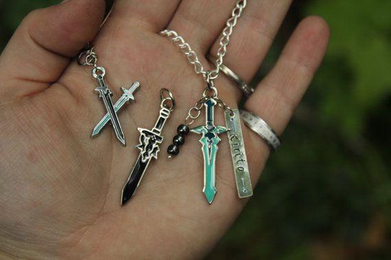 Kirito inspired Necklace from Sword Art Online https://www.etsy.com/listing/189485898/sword-art-online-inspired-kirito