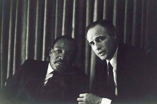 Martin Luther King Jr & Marlon Brando