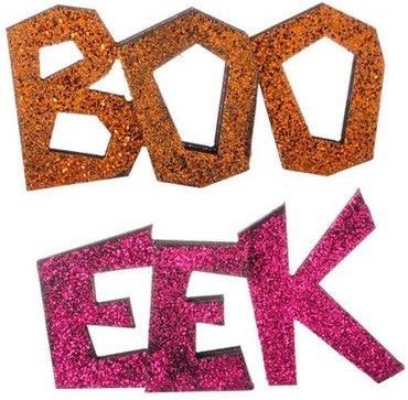 raz glittered boo eek sign set of 2 2 assorted halloween signs set includes one of each orange pink made of mdf measures x x raz 2014 halloween - Raz Halloween Decorations