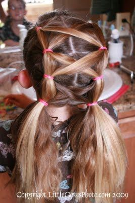 Tips from a Typical Mom: Criss Cross Puffy Braids- Girls Up Do's