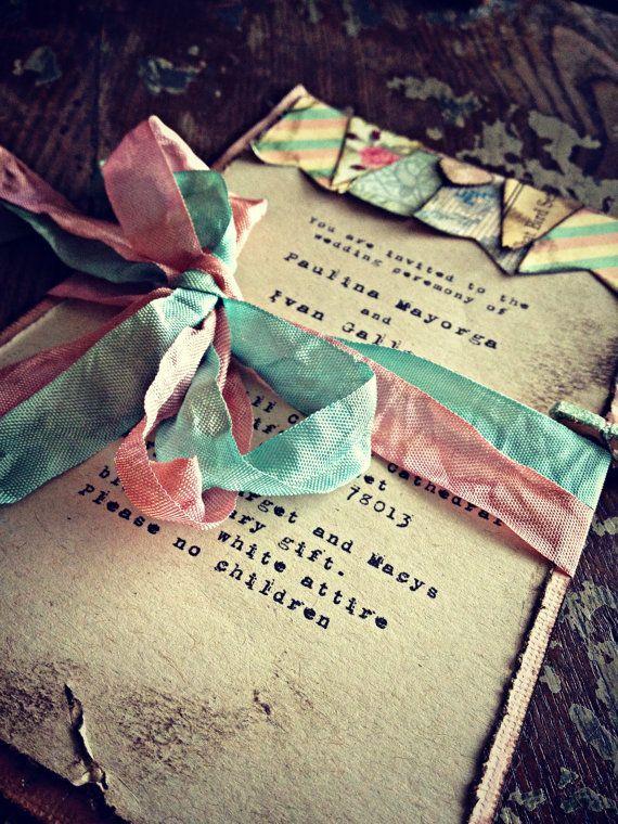 Invitaciones de boda boho chic