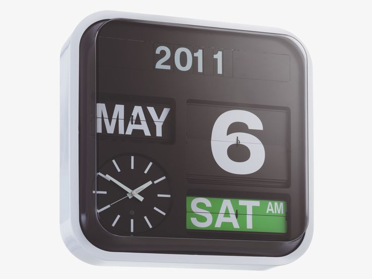 Flap large wall clock. Dimensjoner: W43 x H43 x D16cm. Kr. 1400,-