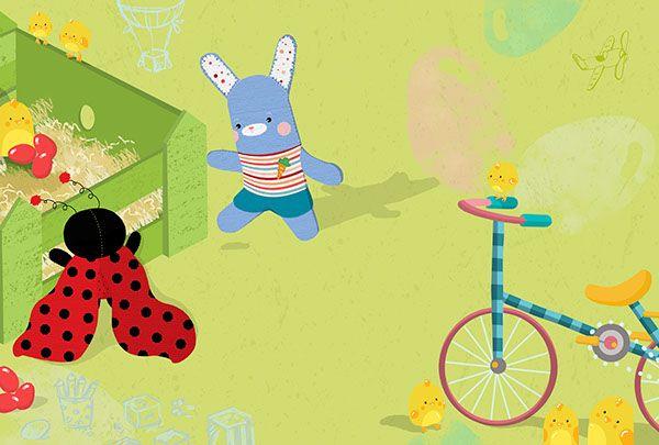 The ladybug and the bunny by Angeliki Delecha, via Behance