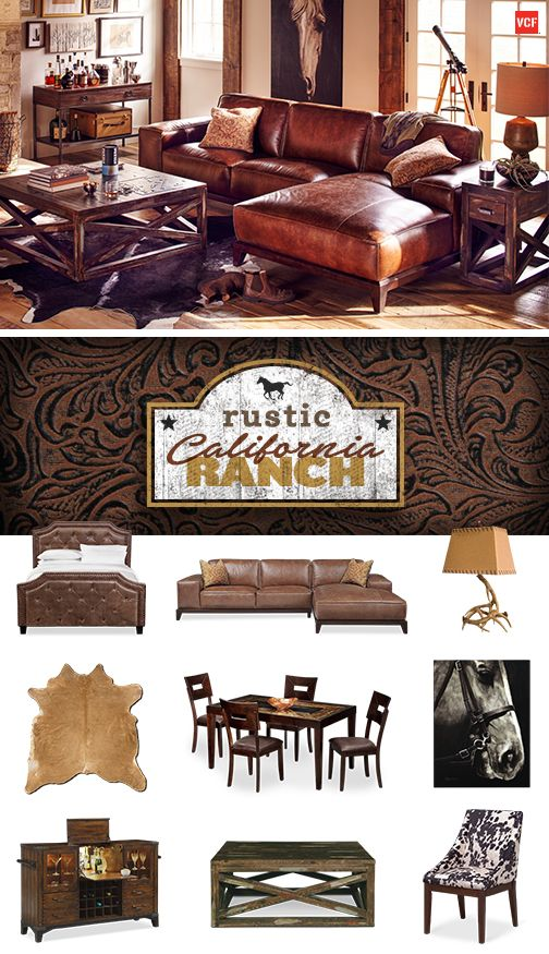 Explore The Rustic California Ranch From Value City Furniture A Wild Natural And Textured