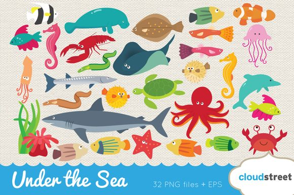 Check out Under the Sea Clipart by cloudstreetlab on Creative Market
