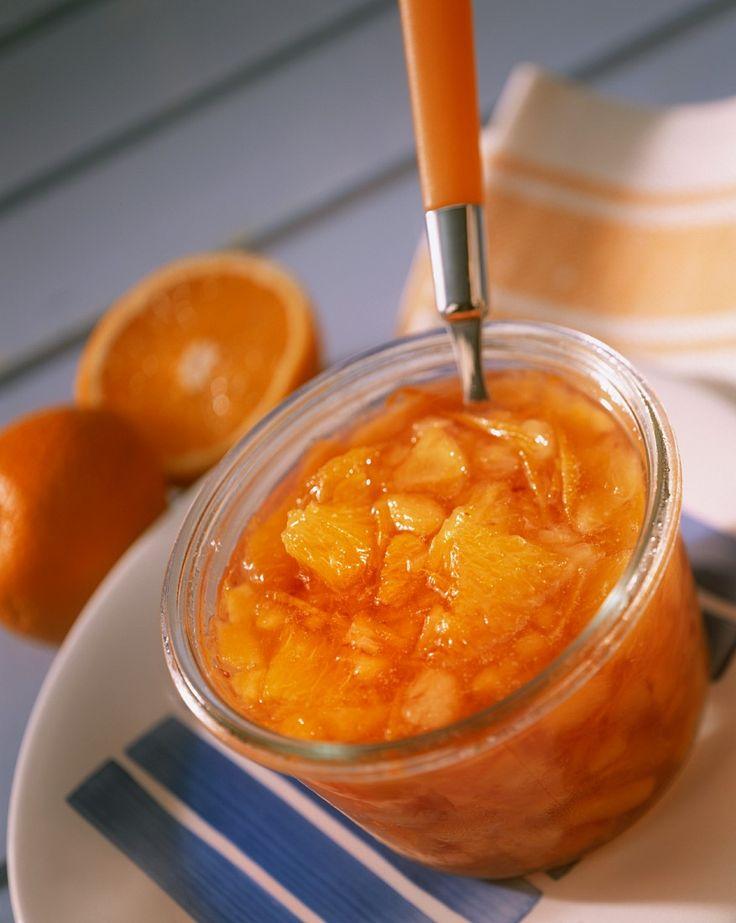 Pfirsichkonfitüre mit Orangen