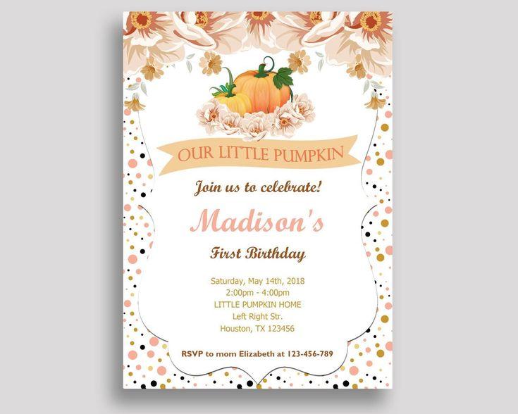 Pumpkin Birthday Invitation Pumpkin Birthday Party Invitation Pumpkin Birthday Party Pumpkin Invitation Girl girl pumpkin party YDV3L #birthdayInvitations #birthdayParty #birthdayPartyInvitations