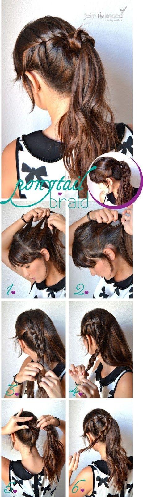 ponytail braid hair tutorial | Shes Beautiful