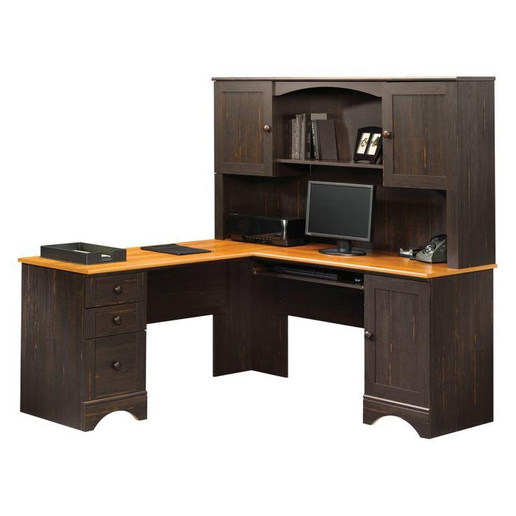 Corner Computer Desk Black Glass Corner Computer Desk