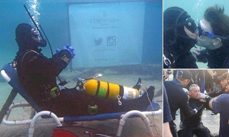British diver sets new world record for the longest warm-water scuba dive by spending almost 50 hours on the sea floor