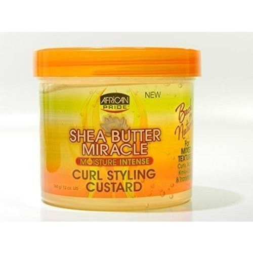 African Pride Shea Butter Miracle Curl Styling Custard 12 Ounce