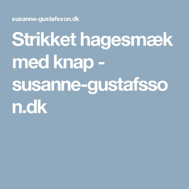 Strikket hagesmæk med knap - susanne-gustafsson.dk