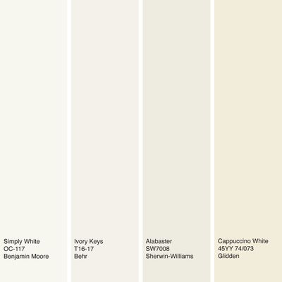 Off-white interior paint colors : Sherwin-Williams 'Alabaster' -  A neutral white doesn't veer too far to the warm or cool side & pairs nicely with other colors. #home