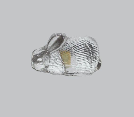 Cute vintage 60s crystal glass Rabbit. by TopNotchScandinavia