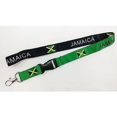 Jamaica flag reversible lanyard