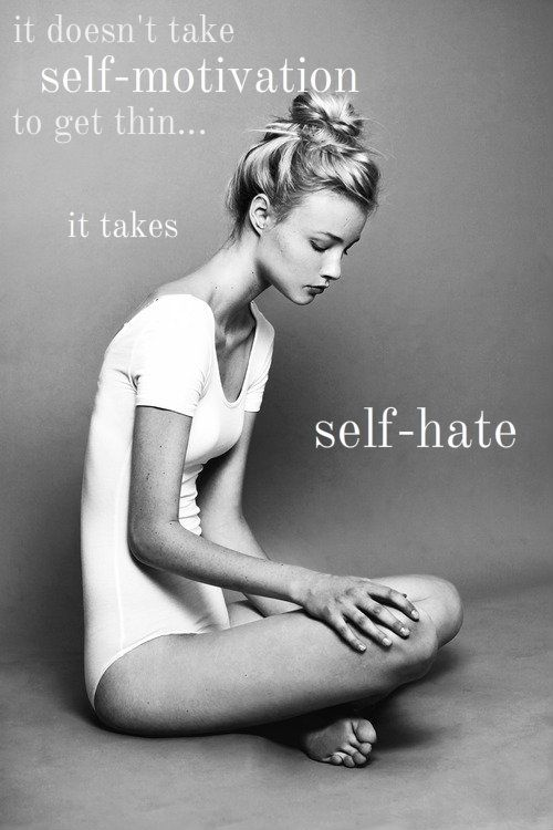 Exactly. Talk to young, teenage girls about the health risks of eating disorders today.