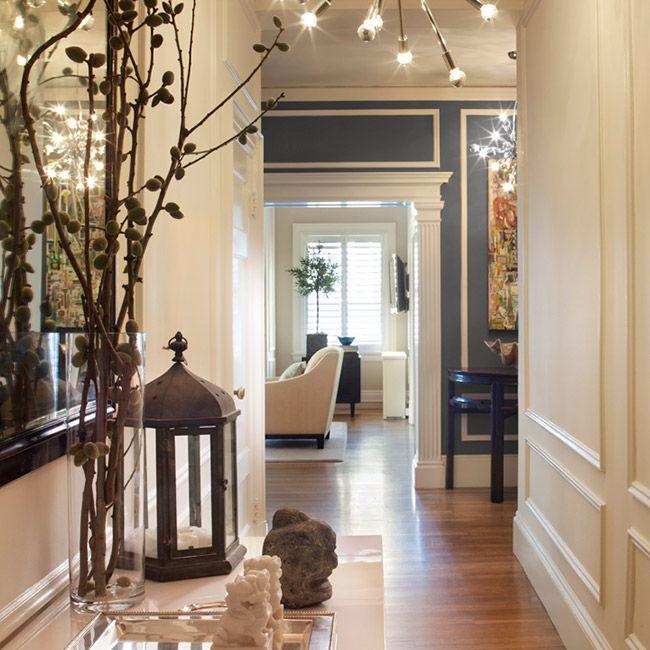 Home Interior Design Modern Hallway: Molding And Trim Add Architectural Interest To A