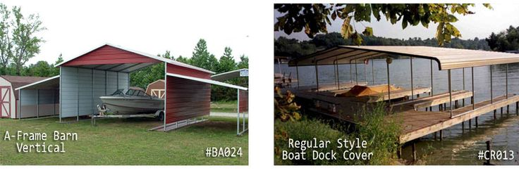 Custom Metal Boat Garage and Boat Shelters