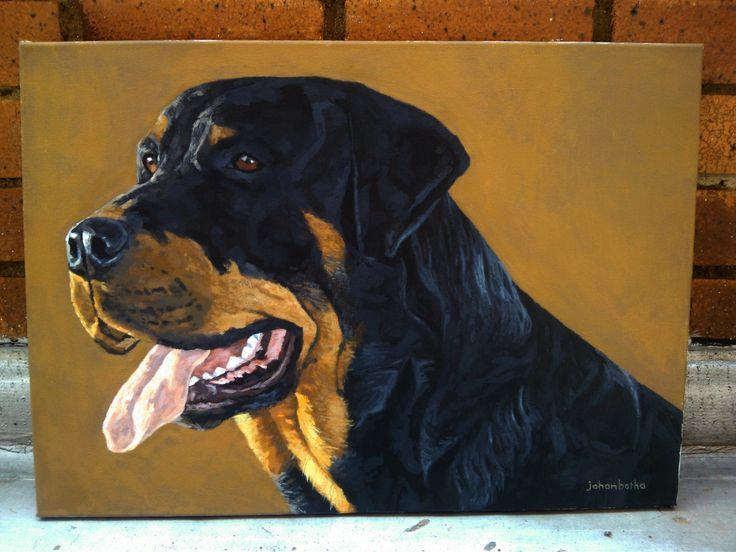 Acrylic painting by Johan Botha