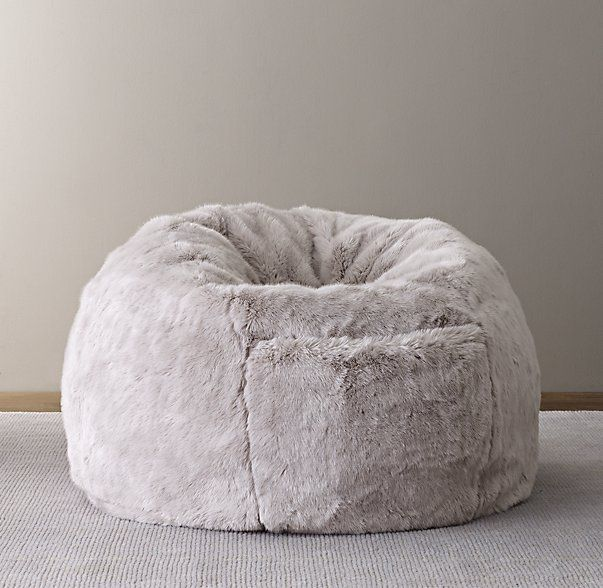 Luxe Faux Fur Bean Bag OMG I WANT THIS SO BAD Would Be Awesome