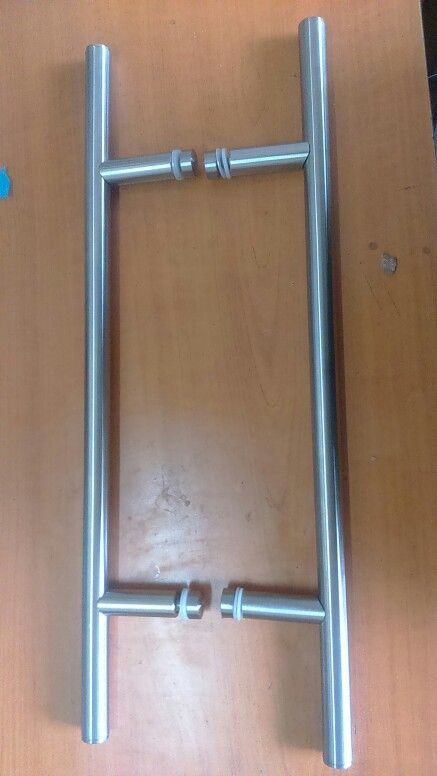 Tiradores para puertas de cristal acero inoxidable for Puertas de acero inoxidable