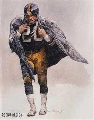 Rare Rocky Bleier Pittsburgh Steelers Corning Print