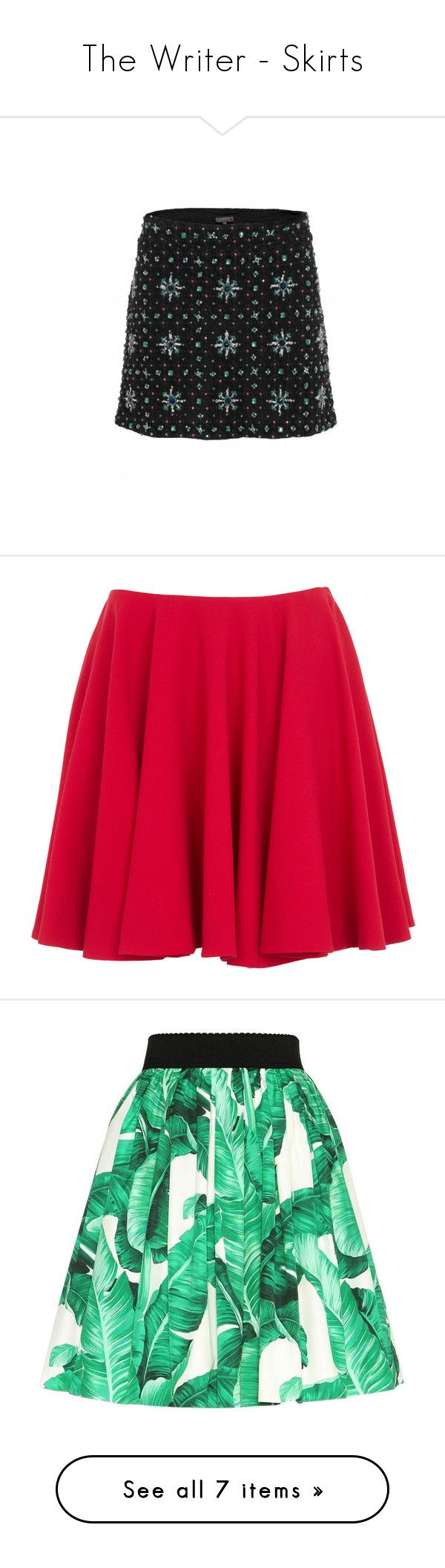 """The Writer - Skirts"" by gracebeckett ❤ liked on Polyvore featuring skirts, bottoms, saias, faldas, red, flared hem skirt, red flared skirt, red wool skirt, red skirt and red flare skirt"