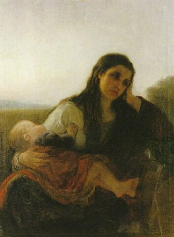 """Anna Nordgren, """"Mor med barn"""" (""""Mother with Child""""). Kinda unhappy mother, no?"""
