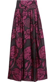 Brocade pattern idea Temperley London Tula Fil-Coupe floral-embroidered organza maxi skirt | NET-A-PORTER