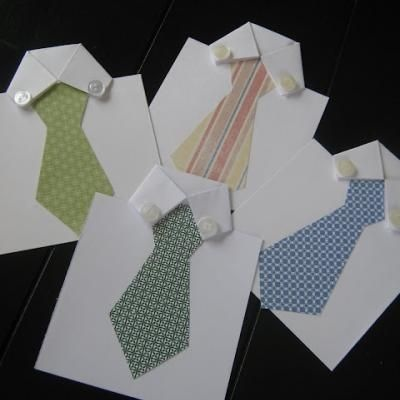This is too cute! DIY Father's Day Tie Card