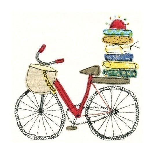 Quilters bike - art print. €9,00, via Etsy.