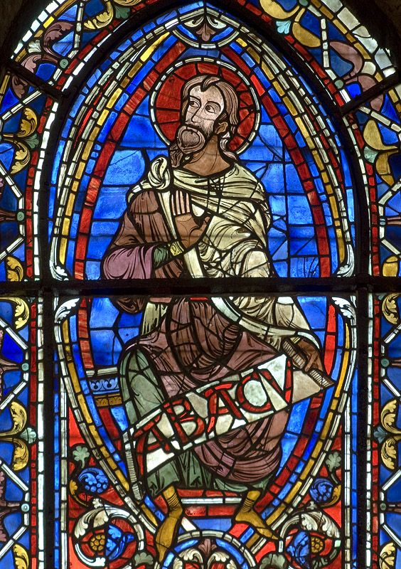 Chartres Cathedral Stained Glass - Bay 141 (The Temptations of Christ / Three Prophets)