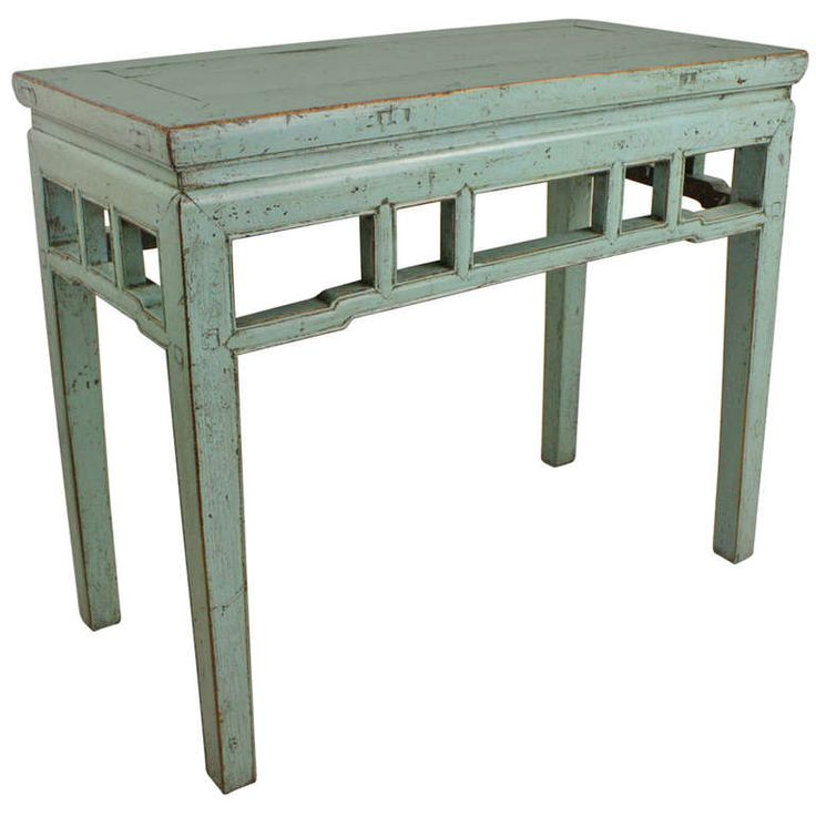 Light blue painted vintage chinese console table console tables consoles and country dining rooms - Light blue dining table ...