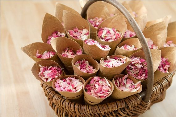 Small garden willow trug with 25 cones and real by bespokeconfetti, $65.00