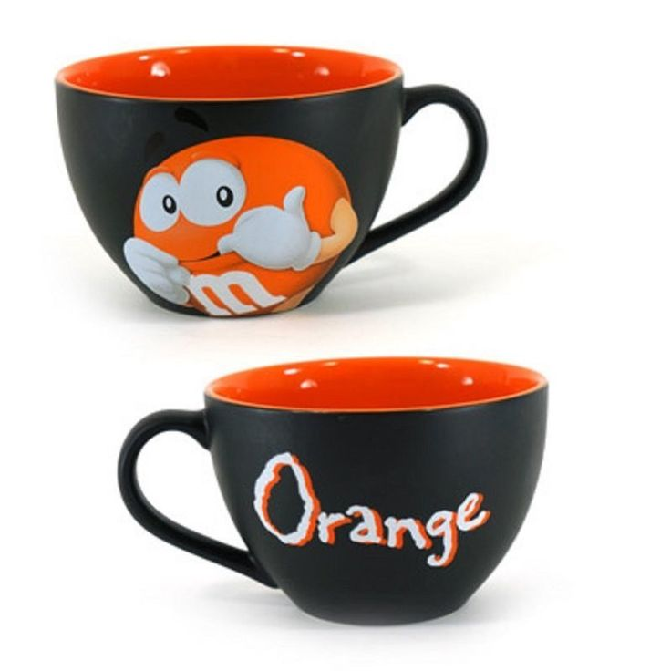 M&M's World Orange Character Cappuccino Mug New