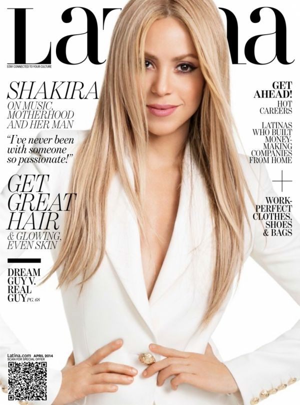 Shakira en la revista Latina de Abril.