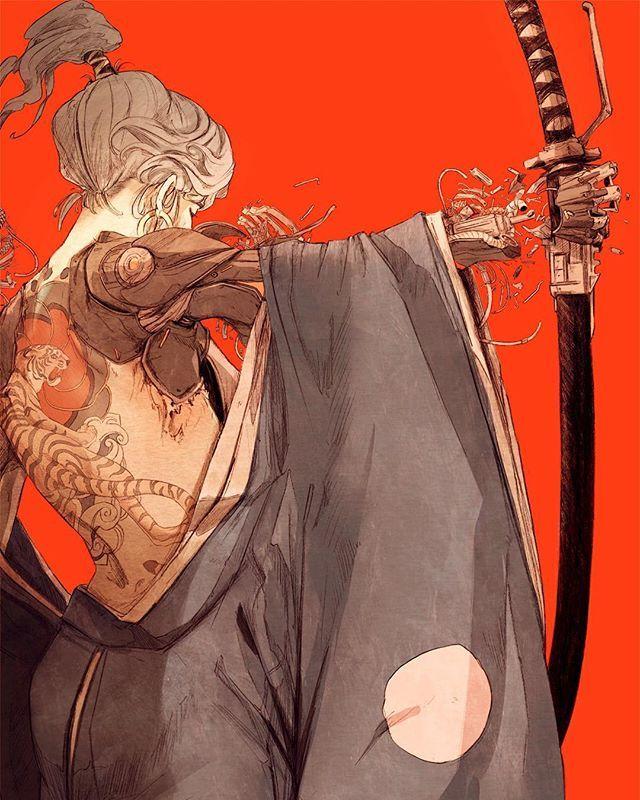 Artist Chun Lo • • • • • • • • • • • • • • • • • •  #empirefuture #empire #assasin #asia #warrior #samurai #soldier #tattoo #manga #tattoos #follow #followme #katana #art #digitalart #top #devil #tokio #japan #sword #future #scifi #science #fantasy #blade #blades #amazing #Ninja #sky #gallery