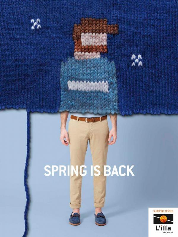 """L'illa Diagonal: Boy. Agency DDB, Spain. """"Spring is back"""" :)"""