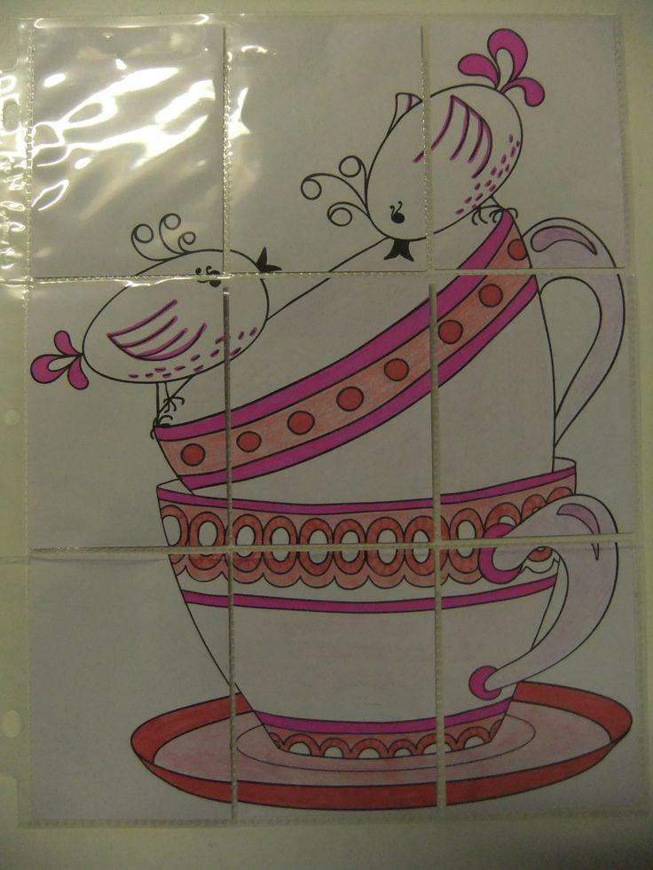 Pink teacups & Birds - Pocket Letter