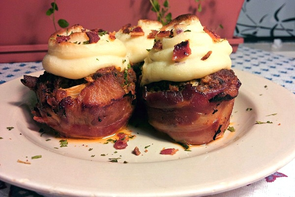 Bacon Wrapped Meatloaf Cupcakes