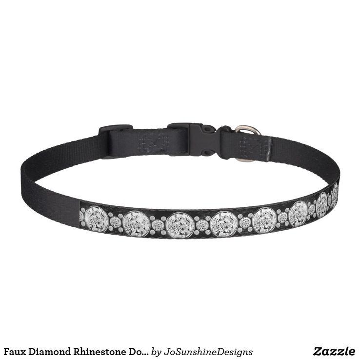 Faux Diamond Rhinestone Dog Collar Large