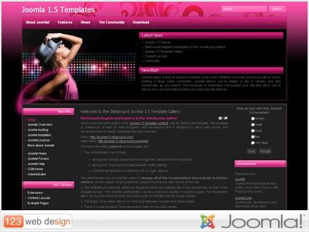 A truly hot Joomla 1.5 template Design