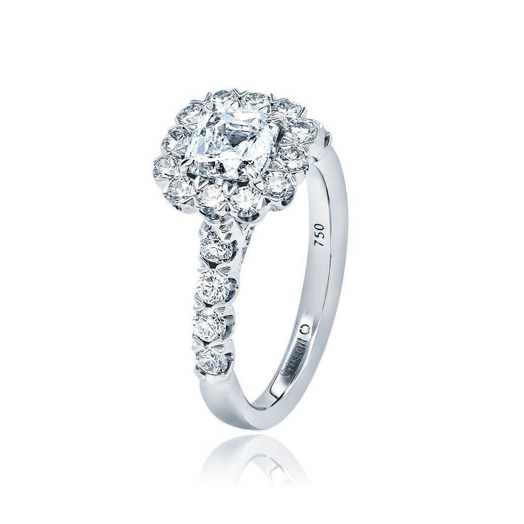 Christopher Designs Crisscut Diamond Engagement Ring. $9,990.