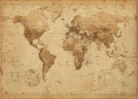 mapa świata retro