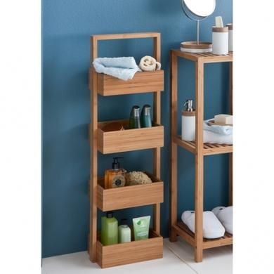 Howards Storage World | 4 Tier Bamboo Caddy Stand